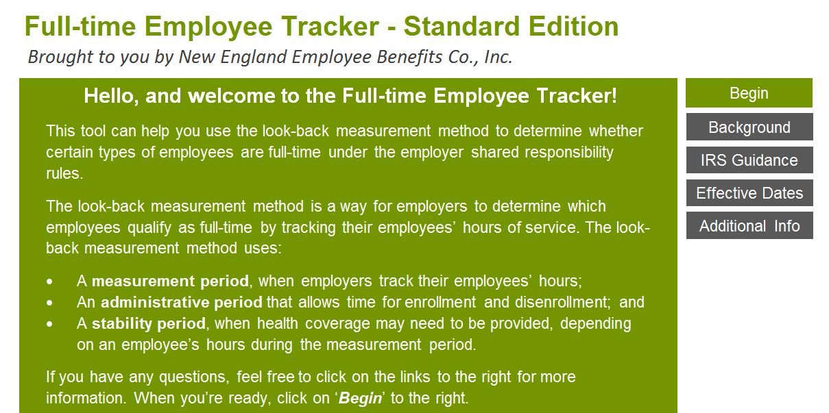 aca seminar full time employee tracker new england employee